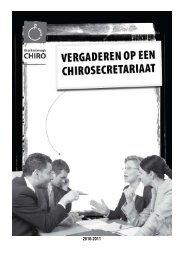 Vergaderen op een Chirosecretariaat - Kader Chiro