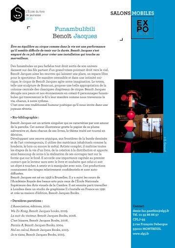 Funambulibili Benoît Jacques - Salon du livre et de la presse jeunesse