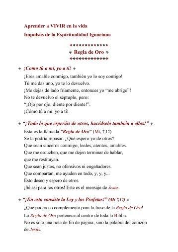 Regla de Oro - Vacarparacon-siderar.es