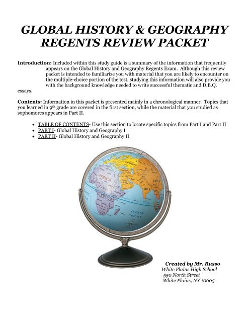 global history & geography regents review packet
