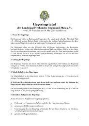 Hegeringstatut - Landesjagdverband Rheinland-Pfalz