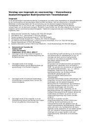Bijlage 4 Verslag van inspraak en vooroverleg - Gemeente Hengelo