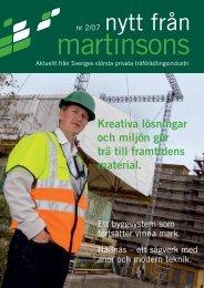 Kreativa lösningar och miljön gör trä till framtidens ... - Martinsons