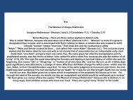 Eve The Woman of Unique Distinction Scripture ... - faith that works