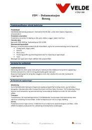 FDV – Dokumentasjon Betong - Velde AS