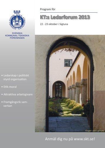 KT:s Ledarforum 2013 - Svenska Kommunal-Tekniska Föreningen