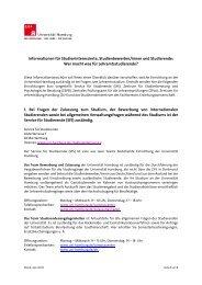 Wer macht was für Lehramtsstudierende - ZLH-Hamburg