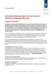 International Museumsdag fejres med masser af aktiviteter på ...