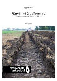 Fjärrvärme i Östra Tommarp - Sydsvensk Arkeologi AB