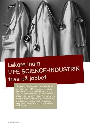 Läkare inom Life science-industrin trivs på jobbet - Haeger & Partner