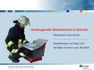 Vorbeugender Brandschutz in Schulen