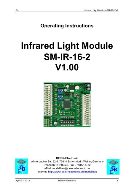 Infrared Light Module Sm-ir-16-2 V1 00