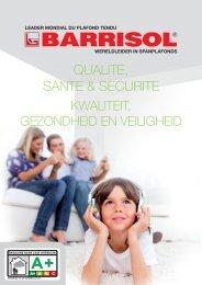 QUALITE, SANTE & SECURITE - Barrisol