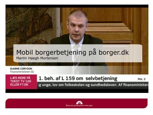 Martin Høegh Mortensen, Digitaliseringsstyrelsen (pdf) - DI ITEK