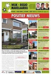 POSITIEF NIEUWS - Wijk-Regio Makelaardij