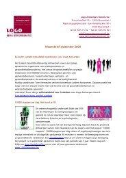 0909 Nieuwsbrief.pdf - LOGO Antwerpen