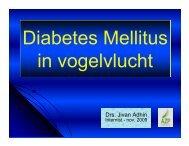 Diabetes mellitus in vogelvlucht - Spaogs.org