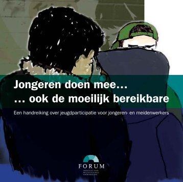 Jongeren doen mee... ook de moeilijk bereikbare - Forum, Instituut ...