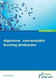 Algemene voorwaarden levering drinkwater - Pwn