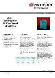 Datablad - Notifier