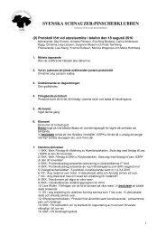 Protokoll 9 18 augusti-10 - Svenska Schnauzer Pinscherklubben