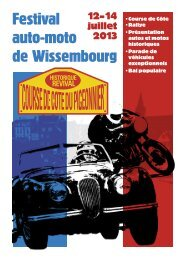 Programme 2013 (PDF - 428.9 ko) - News Classic Racing