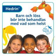 Barn och löss bör inte behandlas med vad som helst - Hedrin