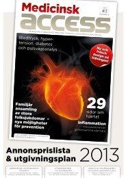 Ladda ner annonsprislistan - Medicinsk access
