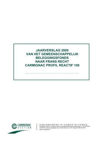 jaarverslag 2009 van het gemeenschappelijk beleggingsfonds naar ...