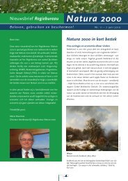 11e nieuwsbrief, juni 2010 - Natura 2000