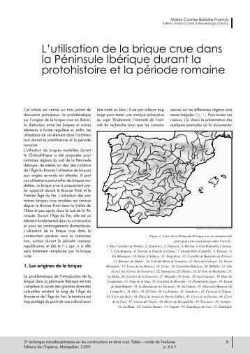 L'utilisation de la brique crue dans la Péninsule Ibérique ... - ICAC
