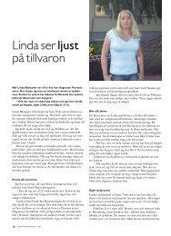 Linda ser ljust på tillvaron - Välkommen till Reumatikertidningens arkiv