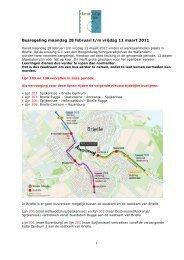 Busregeling maandag 28 februari t/m vrijdag 11 maart 2011