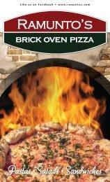 Pastas •Salads •Sandwiches - Ramunto's Brick Oven Pizza