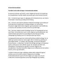 Kristendomskundskab Formålet med undervisningen i ...