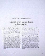 Digitalt arkiv lagrar dans i 3 dimensioner - Visa filer