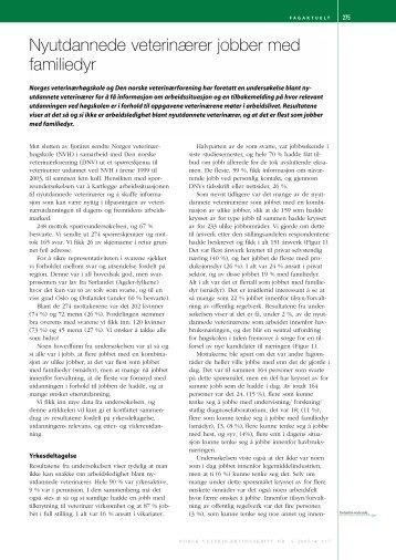 Her finner du resultatene (pdf-fil) - Norges veterinærhøgskole