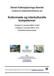 Konferencens program - Dansk Folkeoplysnings Samråd