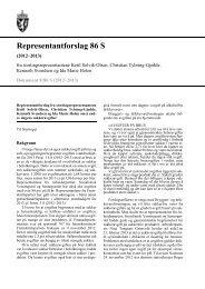 Representantforslag 86 S - Stortinget