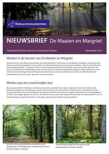nieuwsbrief - Nationaal Park De Loonse en Drunense Duinen