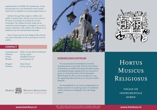 klik hier voor de HMR brochure (pdf-file - 215 kb)