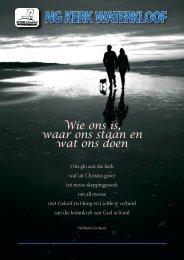 Ons nuwe Bedieningstruktuur - NG Kerk Waterkloof