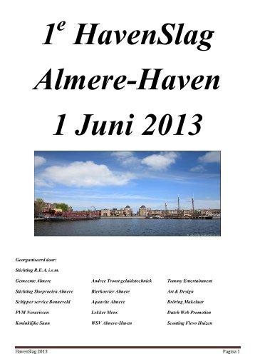 HavenSlag 2013 Pagina 1 Georganiseerd door - Roei ...