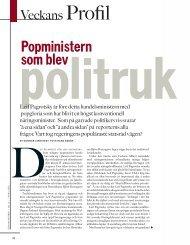 Popministern som blev politruk - Leif Pagrotsky - Veckans Affärer