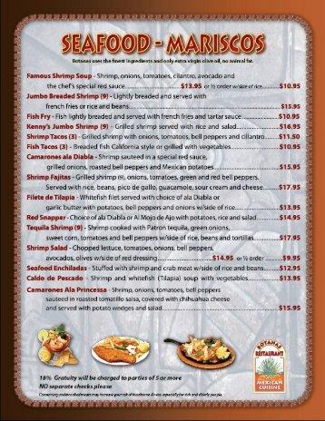 botanas menu - Botanas Restaurant