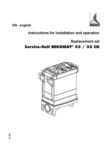 EN - english Instructions for installation and operation Replacement ...