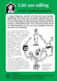 Gödsling med urin - Koloniträdgårdsförbundet