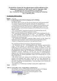 Protokoll 23. September 2005 - Arbeitsgruppe der Koordinator(inn ...