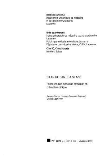 BILAN DE SANTE A 50 ANS - Iumsp.ch
