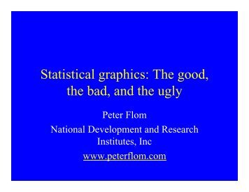 The good, the bad, and the ugly - Statistical Analysis Consulting